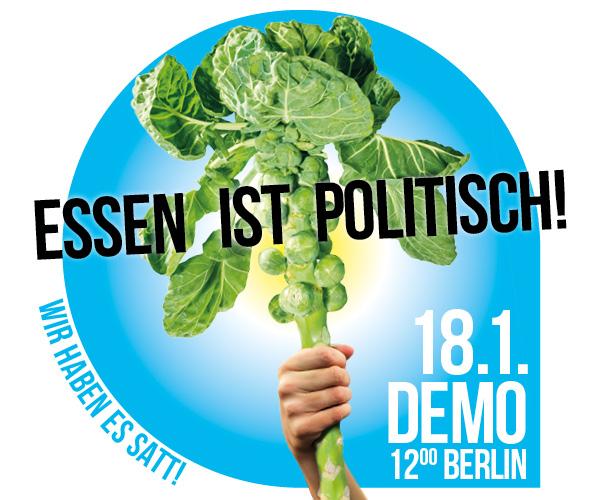 """Wir haben es satt!""-Demo  am 18.01.2020 in Berlin"